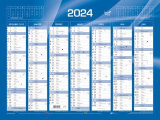 QUO VADIS Calendrier de banque bleu 2021, 135 x 180 mm