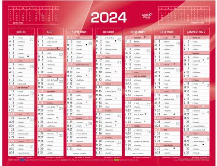 QUO VADIS Calendrier de banque rouge 2021, 270 x 210 mm   Achat