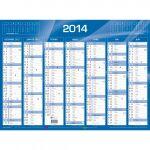 QUO VADIS Calendrier de banque bleu 2020, 550 x 405 mm