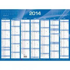 QUO VADIS Calendrier de banque bleu 2021, 550 x 405 mm