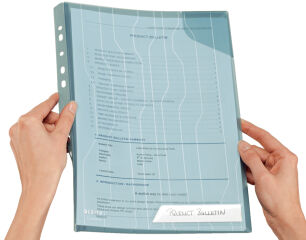 LEITZ pochette CombiFile, format A4, PP, bleu,granuleux,