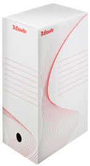 Esselte Boîte d'archives, A4, (L)80 mm, en carton, blanc
