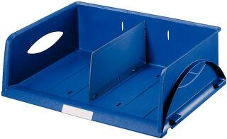 LEITZ bac à courrier Sorty, format A4/C4 paysage, bleu