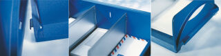 LEITZ bac à courrier Sorty Jumbo, format A3/C3, bleu