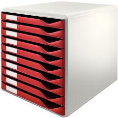 Module de classement formulaires, 10 tiroirs, gris/bleu - LEITZ