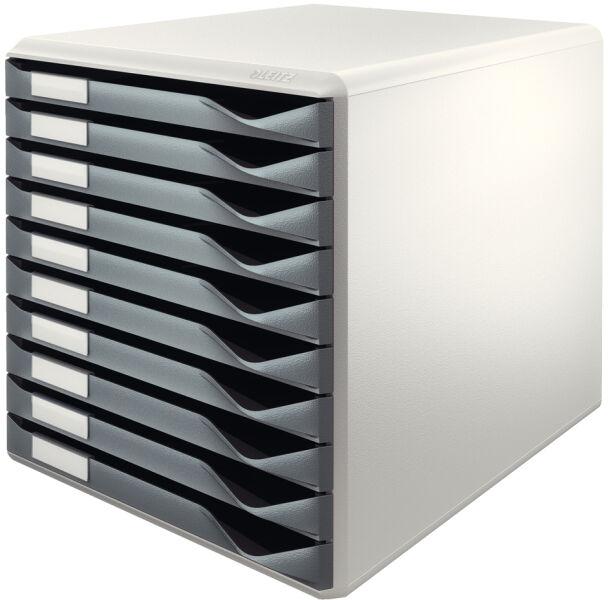 module de classement formulaires 10 tiroirs gris bleu leitz achat vente leitz 80528135. Black Bedroom Furniture Sets. Home Design Ideas