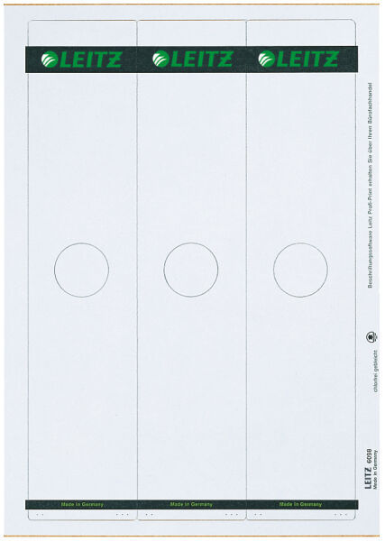 leitz etiquette dos classeur pr dossier supendu 61 x 279 mm achat vente leitz 80609885. Black Bedroom Furniture Sets. Home Design Ideas