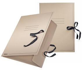 Esselte Carton à dessins, format A2, avec cordons, gris