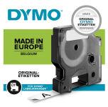 DYMO D1 Cassette de ruban à étiqueter noir/blanc,12 mm x 7 m