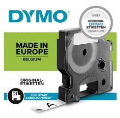 DYMO D1 Cassette de ruban à étiqueter blanc/transparent,
