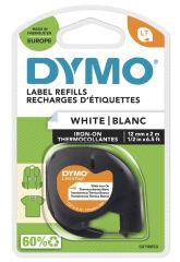 DYMO Cassette de ruban LetraTag, plastique, 12 mm x 4 m