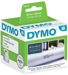DYMO Etiquettes d'adresse LabelWriter, 89 x 28 mm, blanc