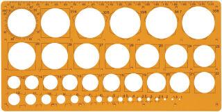 Maped trace-cercles pairs et impairs de 1 à 35 mm,39 cercles