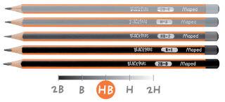 Maped Crayon BLACK'PEPS, degré de dureté: B