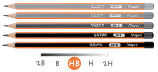 Maped Crayon BLACK'PEPS, degré de dureté: H