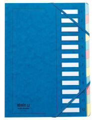 extendos Trieur à élastique série 237, 12 compartiments,bleu