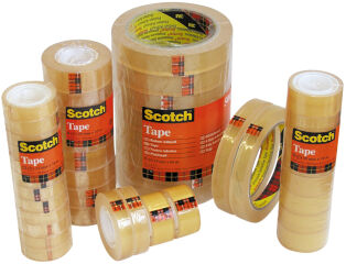 Scotch Ruban adhésif 508, 19 mm x 33 m, transparent
