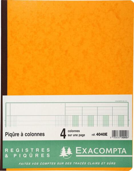 Exacompta piq re colonnes 8 colonnes 33 lignes achat for Papeterie buro plus