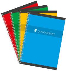CONQUERANT SEPT Cahier reliure intégrale, A4, quadrillé 5x5
