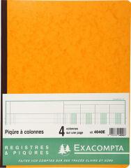 EXACOMPTA Piqûre à colonnes, 4 colonnes, 31 lignes