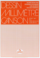 CANSON Papier millimétré, 650 x 500 mm, 90 g/m2,