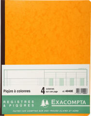 EXACOMPTA Piqûre à colonnes, 6 colonnes, 31 lignes