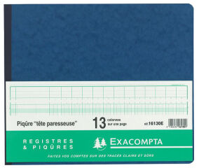 EXACOMPTA Piqûre tête paresseuse, 24 colonnes sur 2 pages