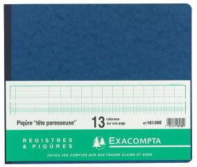 EXACOMPTA Piqûre tête paresseuse, 30 colonnes sur 2 pages