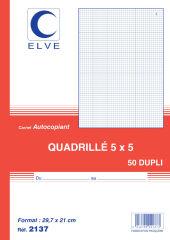 ELVE Manifold quadrillé (5/5), 140 x 105 mm, dupli