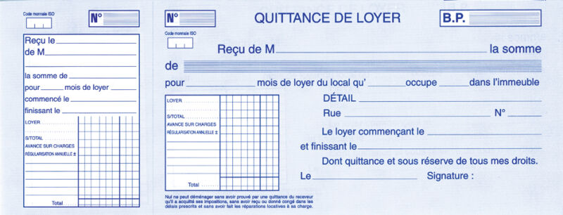 Modele quittance loyer garage document online - Contrat de location garage gratuit ...
