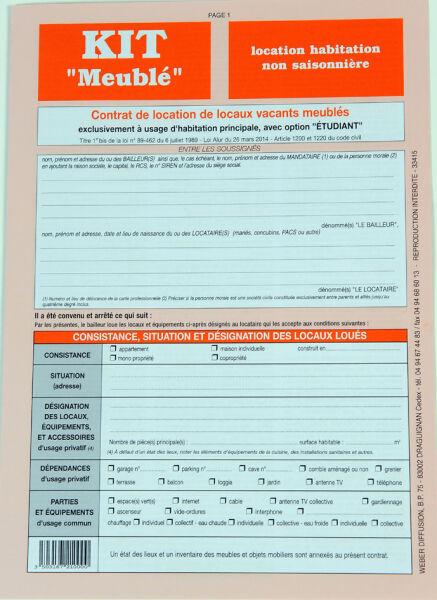 Modele contrat bail meuble saisonnier document online - Contrat de location non meuble a imprimer ...