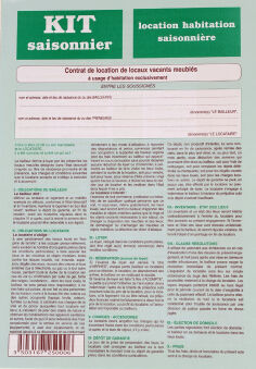 WEBER Formulaire français 'Contrat de location'