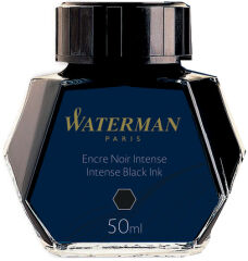 WATERMAN Flacon d'encre, contenu: 50 ml en verre, noir