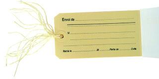 agipa Etiquettes à bagage, imprimées avec ficelle
