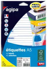 agipa Etiquettes 'expéditeur/destinataire', 64 x 133 mm