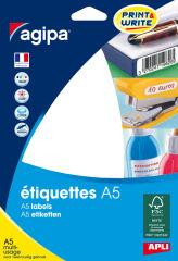 agipa Etiquette universelle, 48,5 x 30 mm, blanc