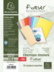 EXACOMPTA Chemises FOREVER 180, A4, 170 g/m2, assorti