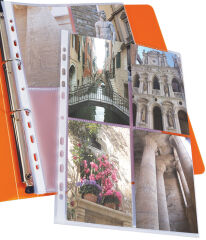 ELBA Pochettes perforées pour 8 photos 100 x 150, format A4