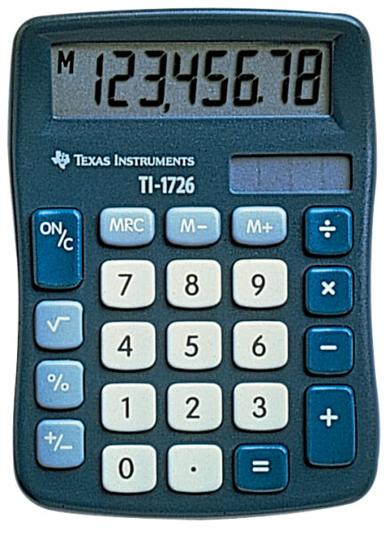 texas instruments calculatrice de bureau ti 1726 achat vente texas instruments 336214200. Black Bedroom Furniture Sets. Home Design Ideas