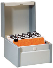 Rexel Boîte à fiches, A5 à la francaise, en plastique