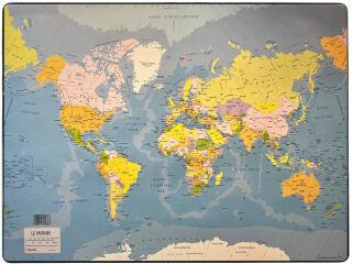 Esselte Sous-mains en plastique, 'Carte du monde'