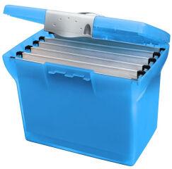 Valisette plastique Class'N Go, bleu translucide - l'oblique