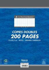 Feuilles doubles A4 non perforées - 200 pages grands carreaux