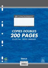 Feuilles doubles A4 - 200 pages petits carreaux