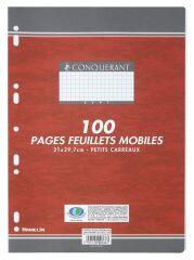 Feuilles simples - A4 - Petits carreaux - 100 pages