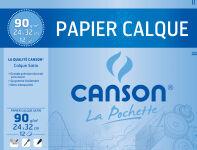 CANSON Papier calque, satin, format A4, 90/95 g/m2