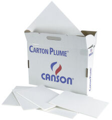 CANSON Carton plume, A3, épaisseur: 5 mm, blanc