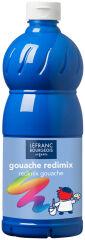 LEFRANC & BOURGEOIS Gouache liquide 1.000 ml, bleu primaire