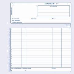 ELVE Manifold 'Livraisons', 140 x 210 mm, tripli