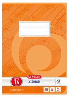 herlitz Cahier de musique x.book, A5, linéature 14, 16 pages